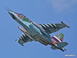 Фото Су-25 в Липецке.